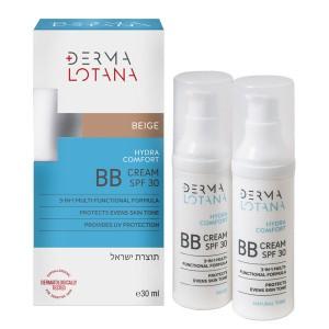 DERMA Lotana Hydra comfort BB beige kremas su atspalviu, smėlinė spalva, 30 ml