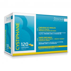 BIORGA CYSTIPHANE maisto papildas plaukams ir nagams, 120 tab