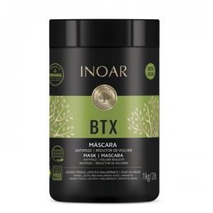 INOAR BTX Anti-frizz Mask - intensyviai plaukus glotninanti kaukė, 1000 g