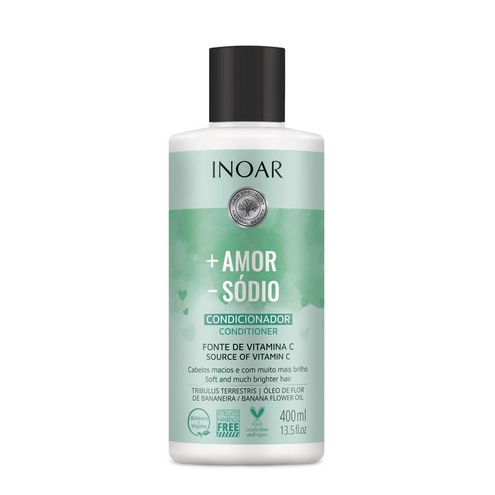 INOAR More Love Less Salt Conditioner – kondicionierius be druskų, 400 ml