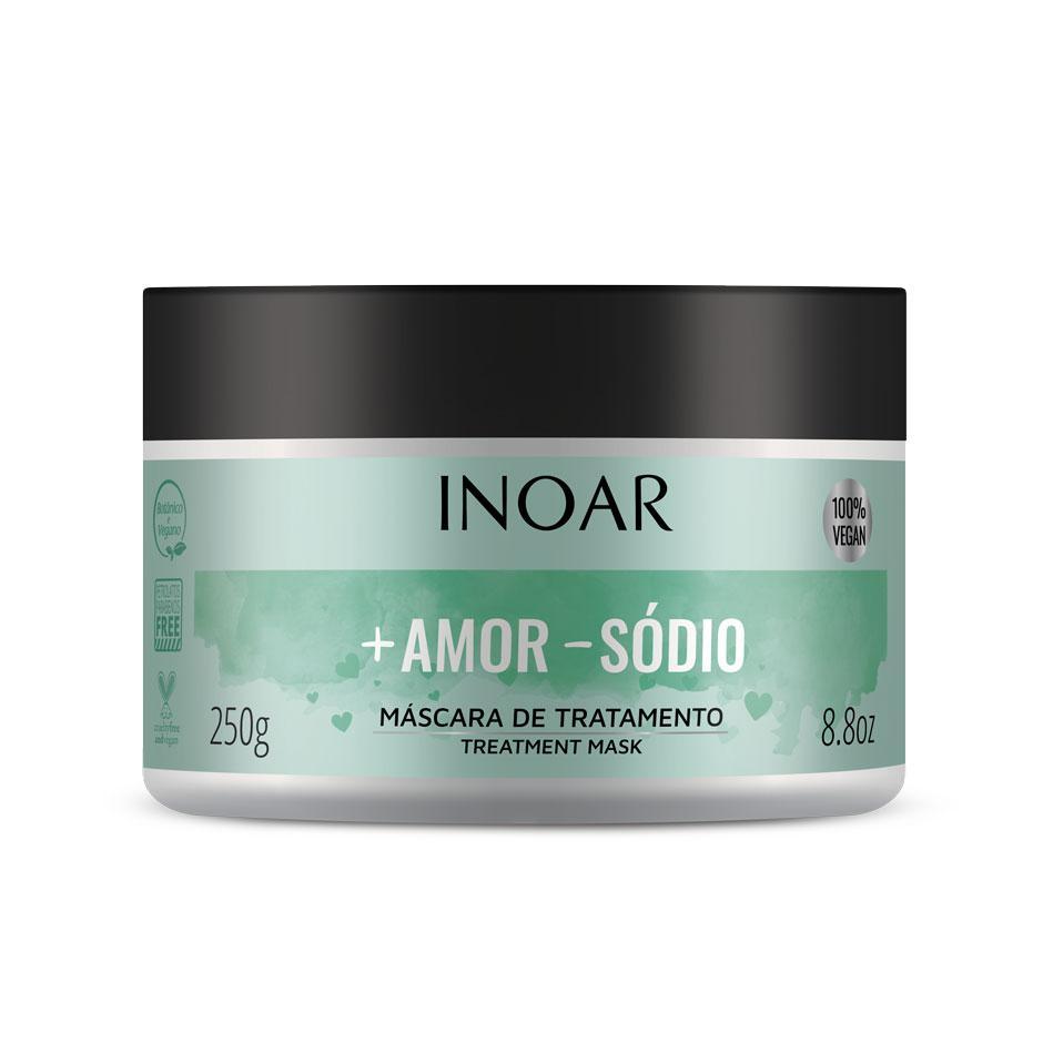 INOAR More Love Less Salt Mask – plaukų kaukė visiems plaukų tipams, 250 g