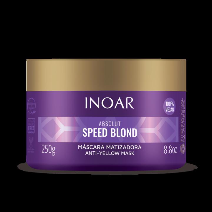 INOAR Speed Blond Mask - plaukų kaukė šviesiems plaukams, 250 g