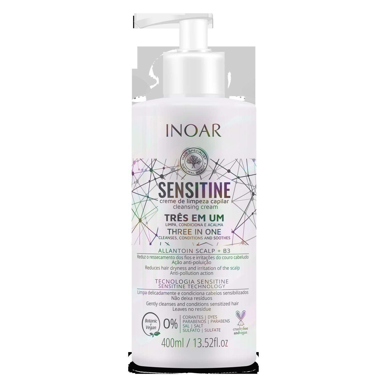 INOAR Sensitine - plaukus valantis kremas (3 in 1), 250 ml