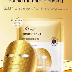 LUXURY ROYAL Auksinė veido kaukė, 25 ml, 5 vnt.