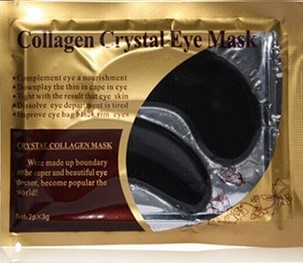Juoda paakių kolageno kaukė Collagen Crystal Eye Mask, 2 vnt. x3 g.