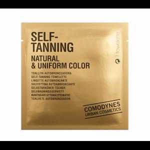 SELF-TANNING. NATURAL&UNIFORM COLOR Natūralios spalvos savaiminio įdegio servetėlės (pakelyje 8 vnt)