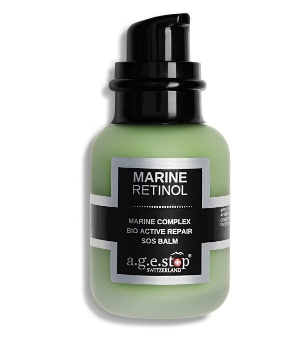 A.G.E STOP biologiškai aktyvus atkuriamasis SOS veido balzamas su jūriniu retinoliu MARINE RETINOL S