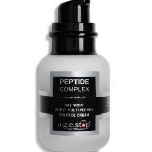A.G.E STOP 24H PEPTIDE COMPLEX CREAM dieninis/naktinis veido kremas su peptidais , 60 ml