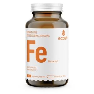 ECOSH bioaktyvi Geležis su vitaminu C, 90 kapsulių