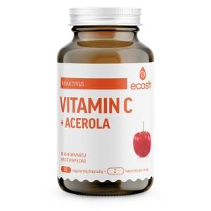 ECOSH bioaktyvus vitaminas C su acerola, 90 kapsulių