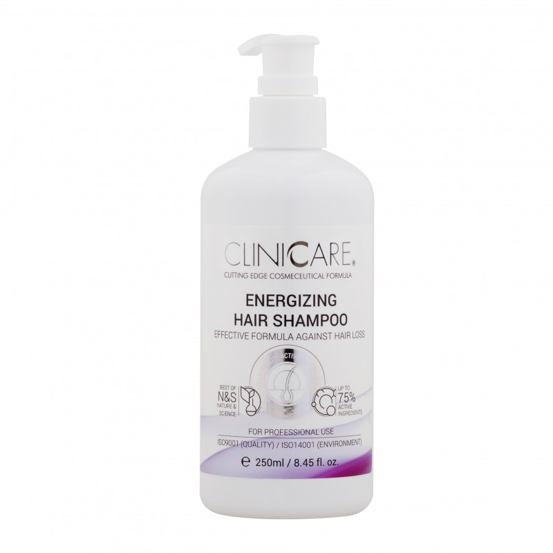 Clinicare Energizuojantis šampūnas nuo plaukų slinkimo ENERGIZING HAIR SHAMPOO, 250 ml