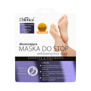 L'BIOTICA šveičiamoji rūgštinė pėdų kaukė-kojinės, 40 ml (1 pora)