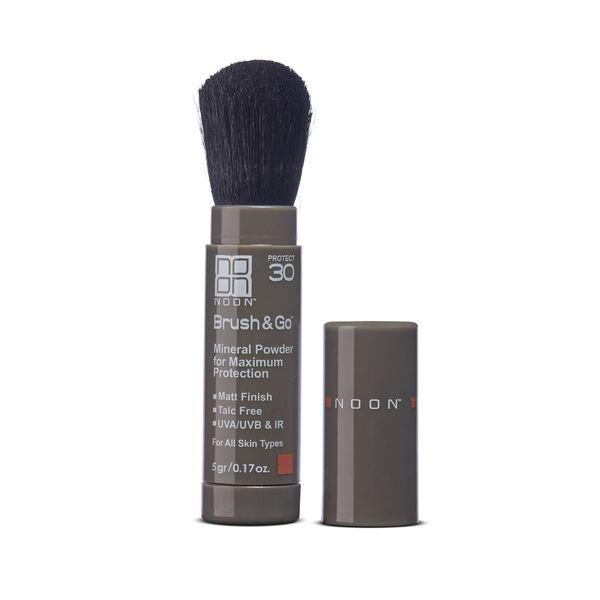 NOON Brushamp;Go mineral sun protection pudra SPF30 (visų tipų odai), 5 g.