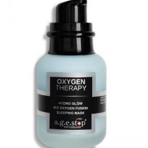 A.G.E STOP Drėkinanti, švytėjimo suteikianti naktinė deguonimi prisotinta veido kaukė: Oxygen Therap
