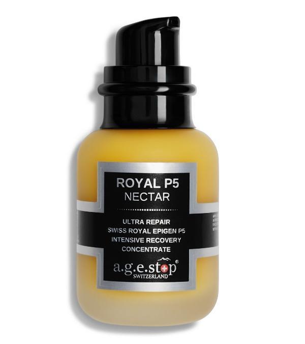 A.G.E STOP  Intensyviai drėgmę atstatantis veido koncentratas ROYAL P5 Nectar, 60 ml